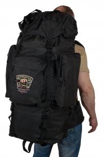 Многодневный черный рюкзак с эмблемой Охотничьих войск купить выгодно