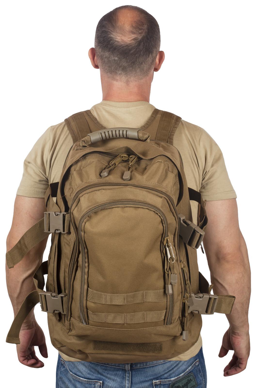 Многодневный рюкзак выживальщика Expandable Backpack (40 литров, койот)