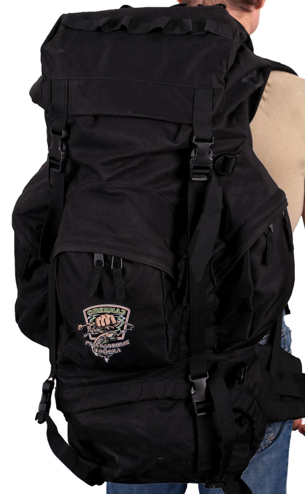 Многодневный серьезный рюкзак с нашивкой Рыболовный Спецназ