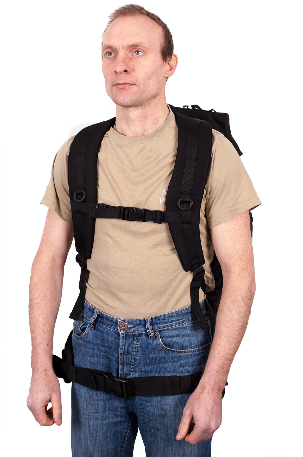 Многодневный серьезный рюкзак с нашивкой Рыболовный Спецназ - заказать в розницу