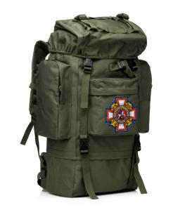 Многодневный удобный рюкзак с нашивкой Потомственный Казак - заказать с доставкой