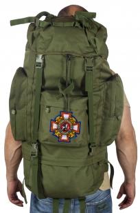 Многодневный удобный рюкзак с нашивкой Потомственный Казак - заказать в розницу