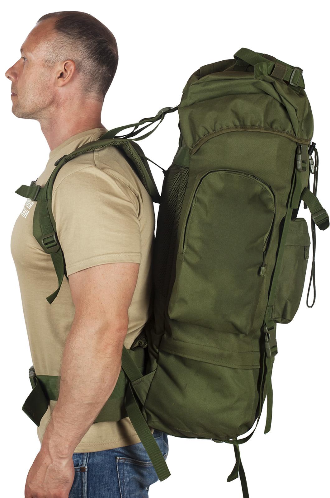 Многодневный удобный рюкзак с нашивкой Потомственный Казак - заказать по низкой цене