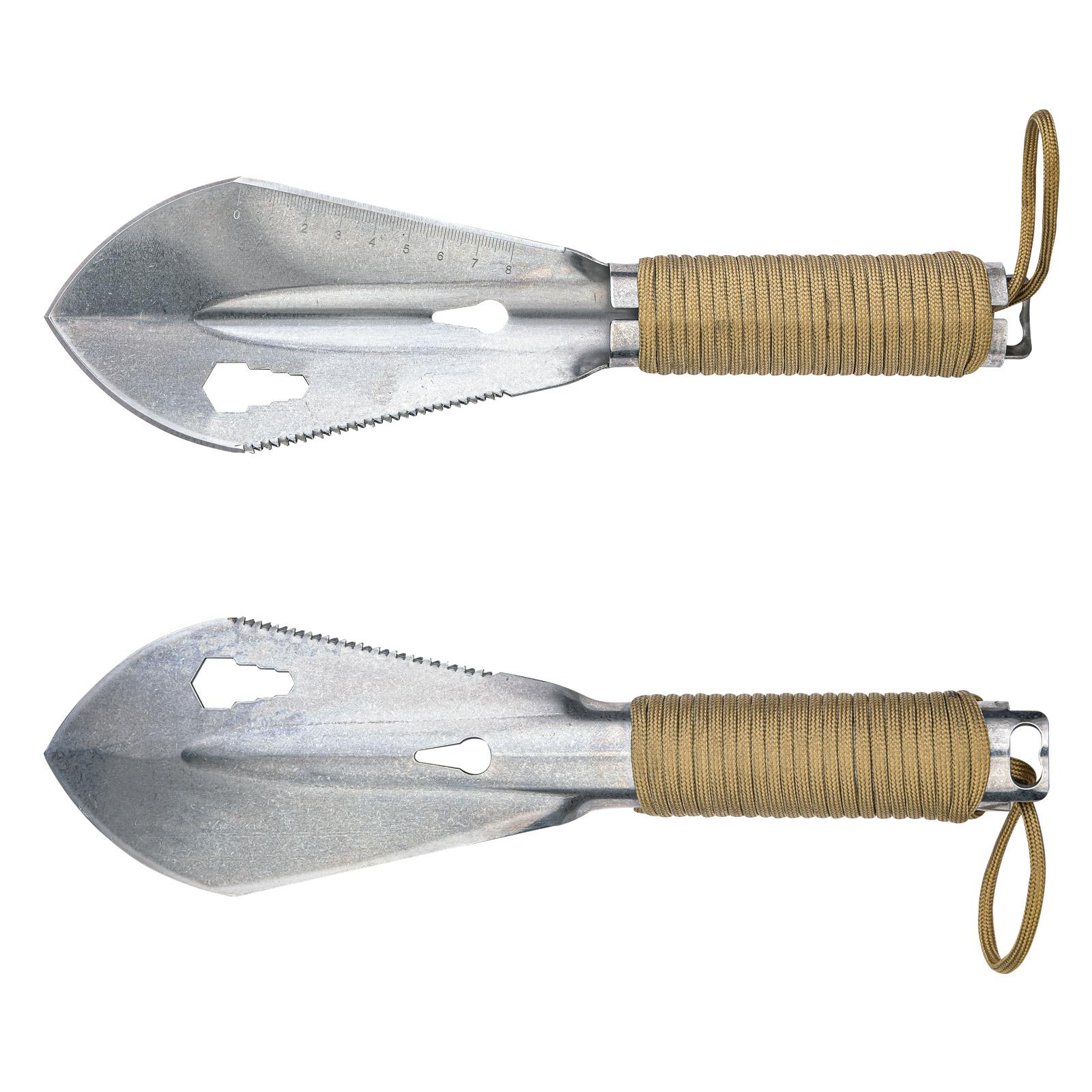Компактная тактическая лопата с паракордом
