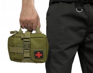 Многофункциональная сумка-аптечка первой помощи (хаки-олива)