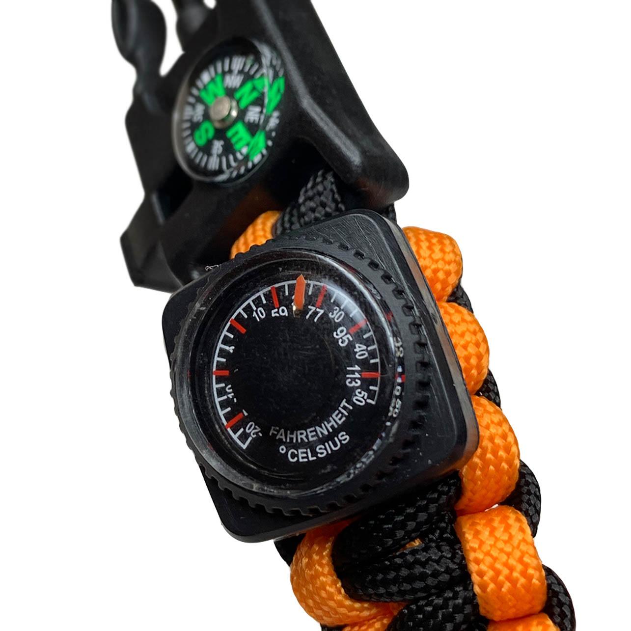 Многофункциональные часы с браслетом из паракорда