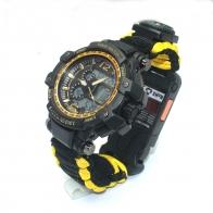 Многофункциональные водонепроницаемые часы выживания EMAK с паракордовым браслетом