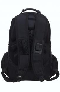 Многофункциональный черный рюкзак  шевроном Каратель купить оптом