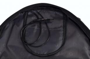 Многофункциональный черный рюкзак  шевроном Каратель купить в подарок