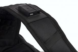 Многофункциональный черный рюкзак  шевроном Каратель купить с доставкой