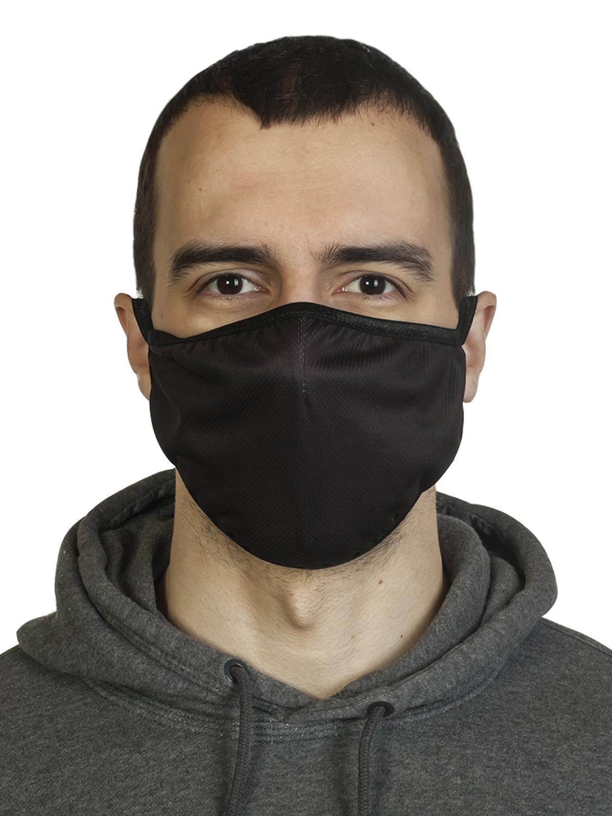 Многоразовая защитная черная маска