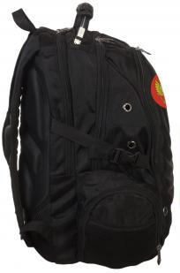 Многоцелевой черный рюкзак с нашивкой Герб России - купить оптом