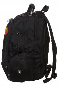 Многоцелевой черный рюкзак с нашивкой Герб России - купить в розницу