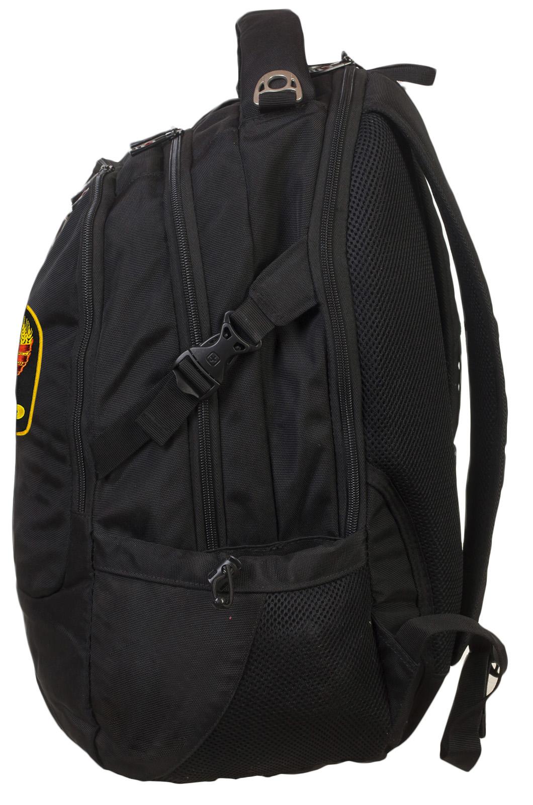 Многоцелевой черный рюкзак с нашивкой Герб СССР - заказать с доставкой
