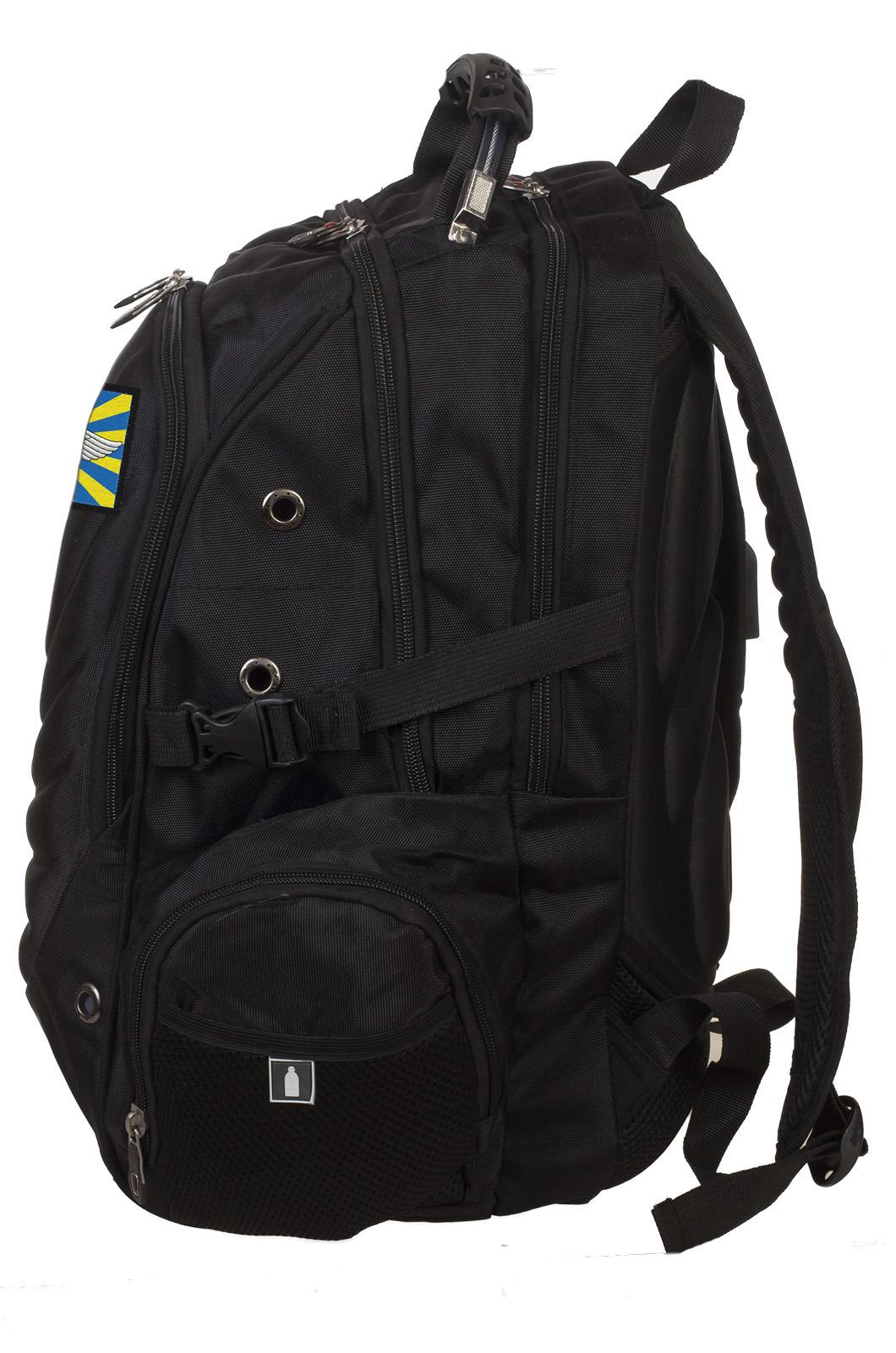 Многоцелевой черный рюкзак с нашивкой ВВС - купить с доставкой