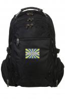 Многоцелевой черный рюкзак с шевроном ВВС