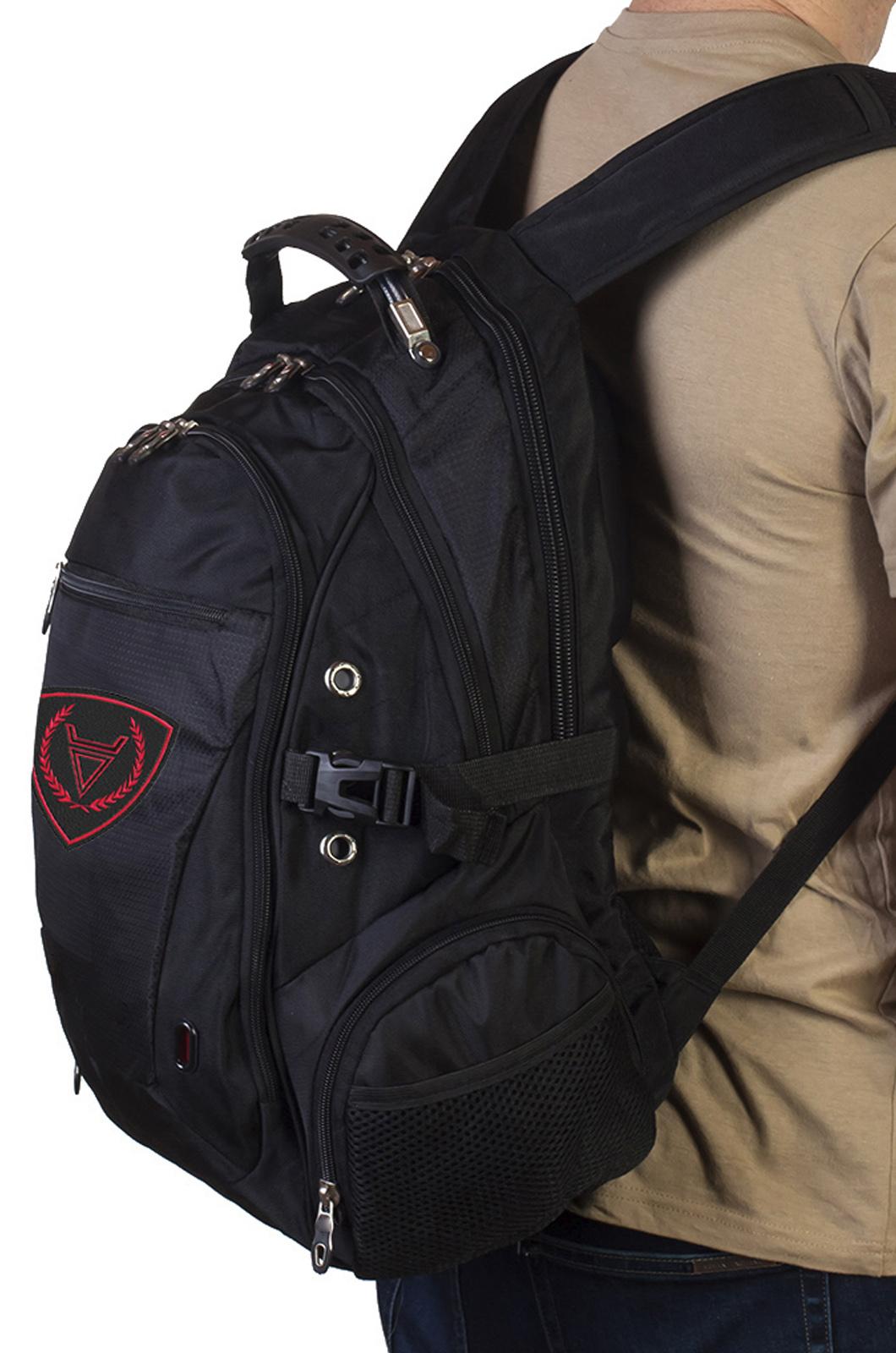 Многоцелевой черный рюкзак с символом Бога Велеса купить в подарок