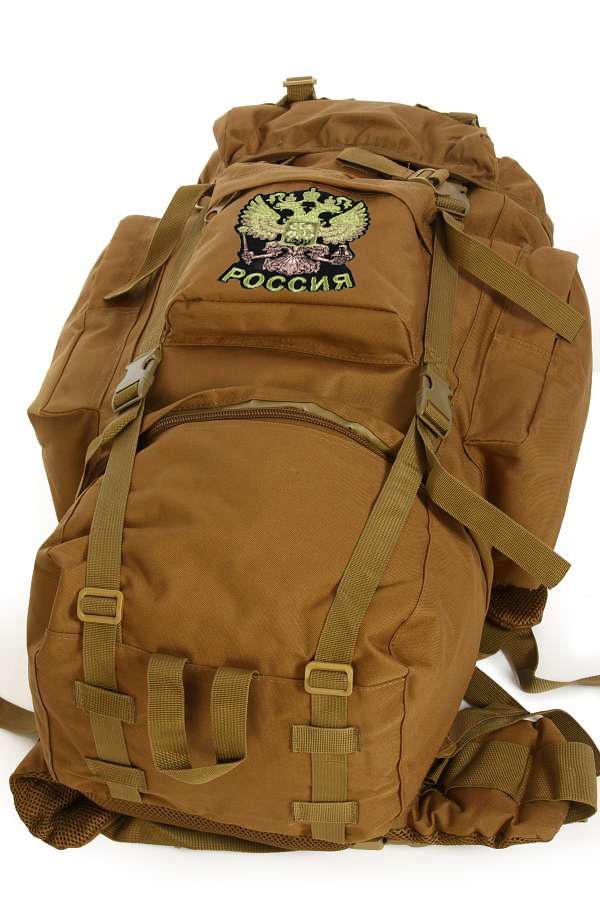 Многоцелевой крутой рюкзак с нашивкой Герб России - заказать в подарок