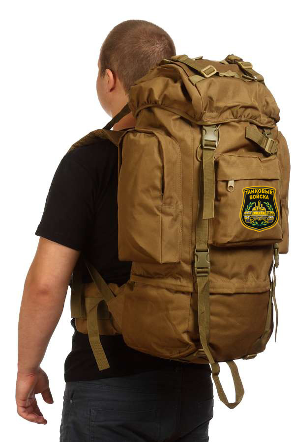 Многоцелевой надежный рюкзак с нашивкой Танковые Войска - купить в розницу