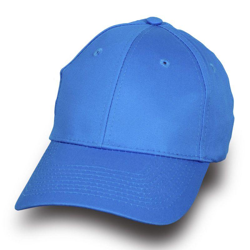 Модная бейсболка голубая