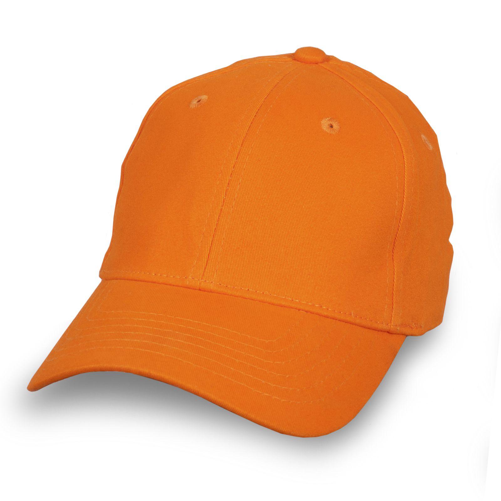 Модная бейсболка оранжевая