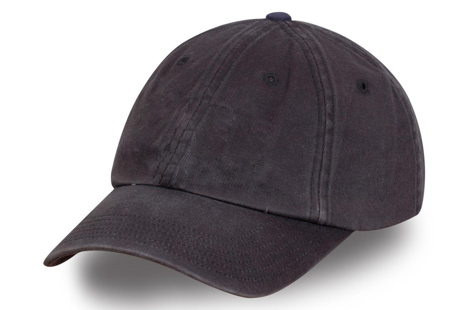 Модная бейсболка темно-серая