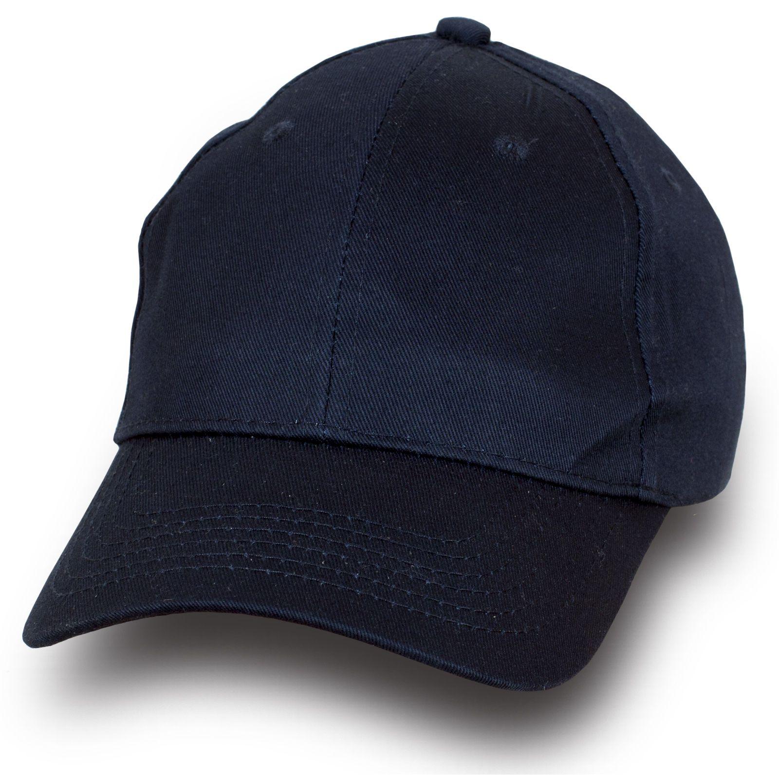 Модная бейсболка темно-синего цвета