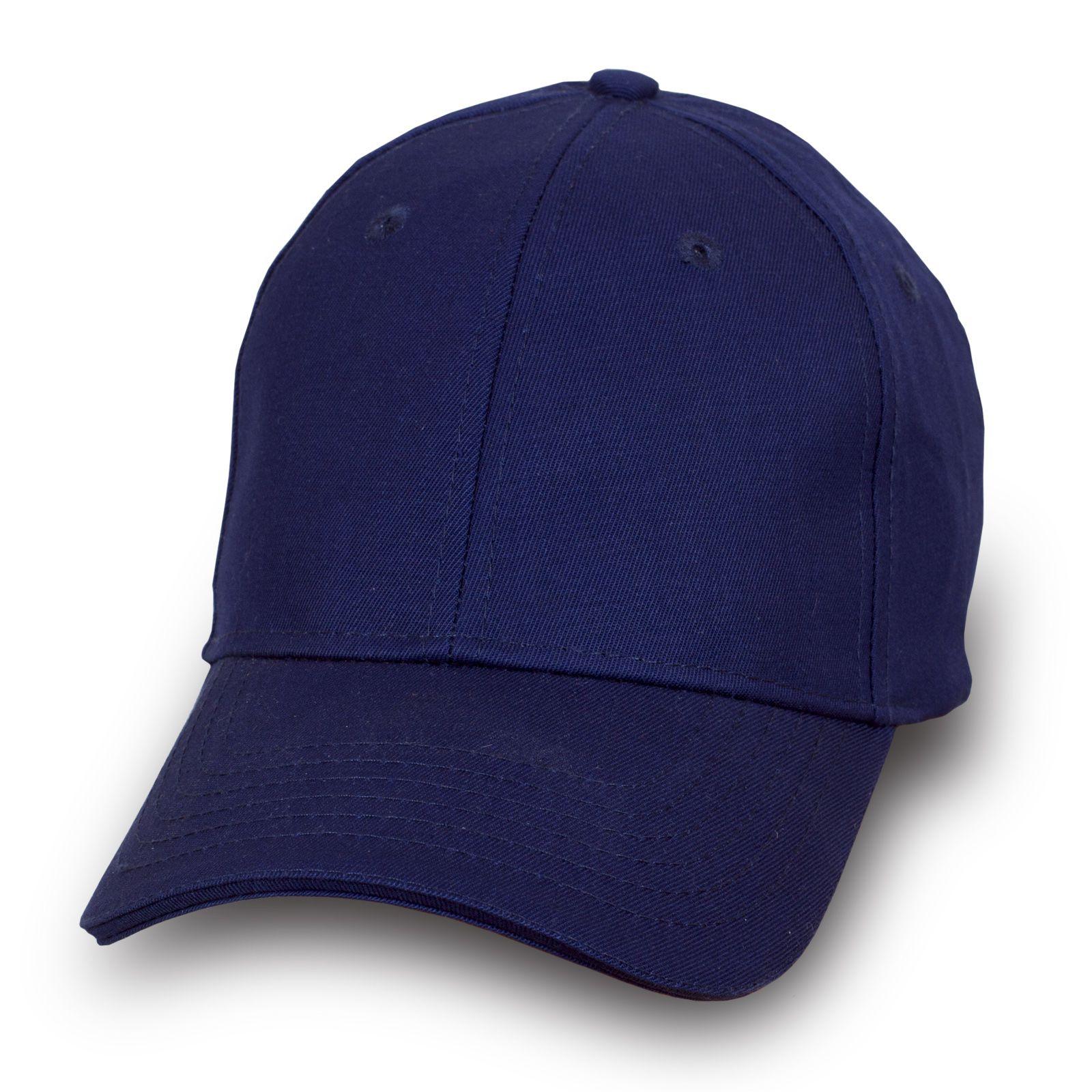 Модная бейсболка темно-синяя