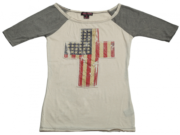 Модная футболка Rock&Roll CowGirl. Дизайнерская модель