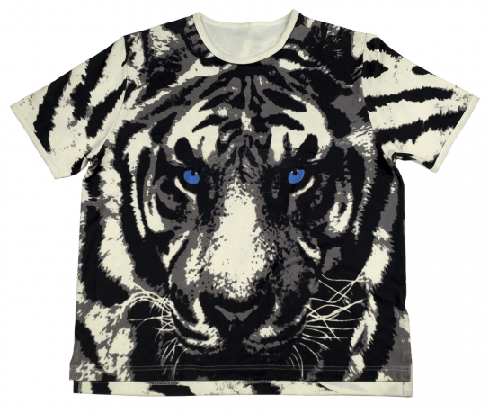 Модная футболка Splash с белым тигром. Эксклюзив!