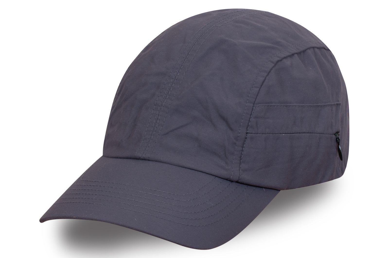 Модная кепка темно-серая