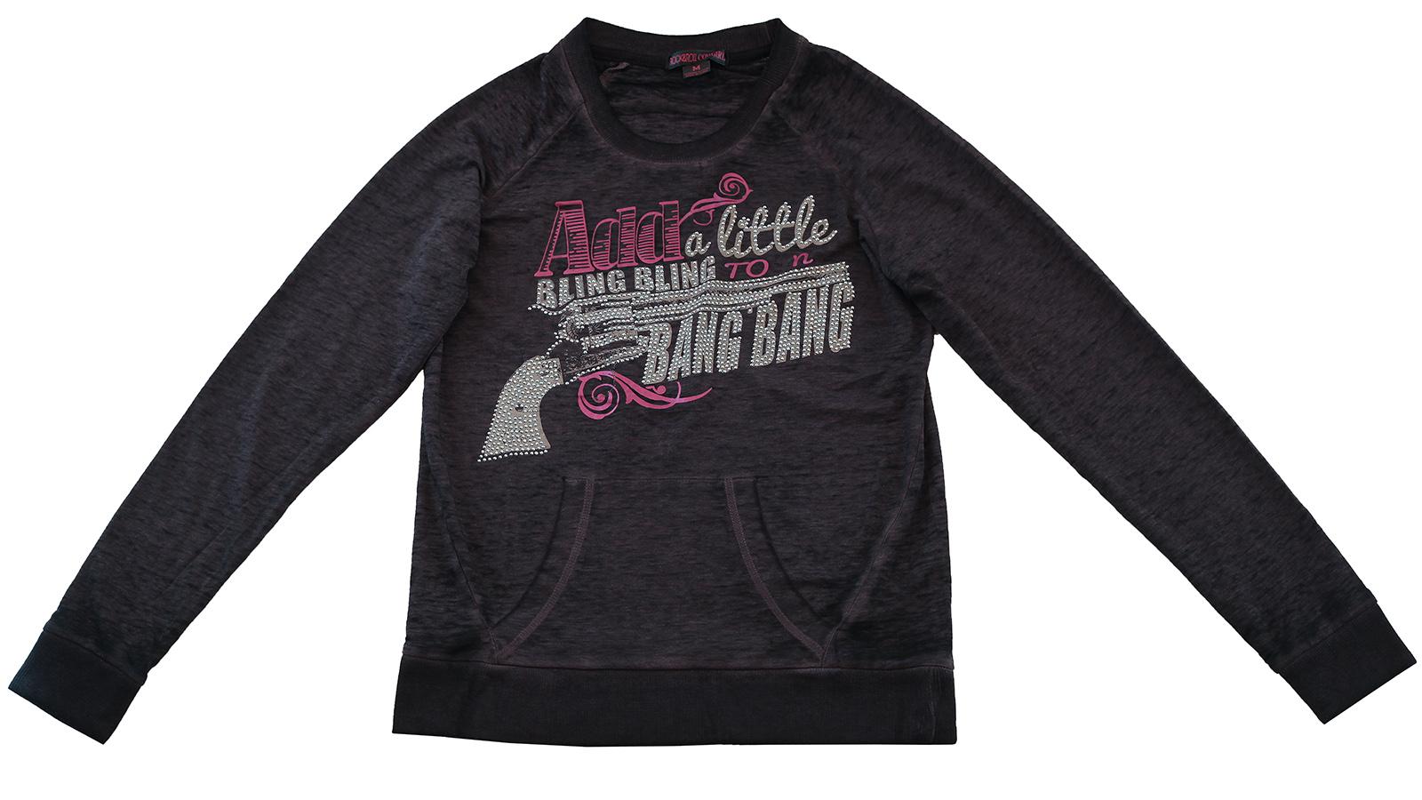 Модная кофточка худи Rock&Roll CowGirl. Стильная модель для ярких девчонок