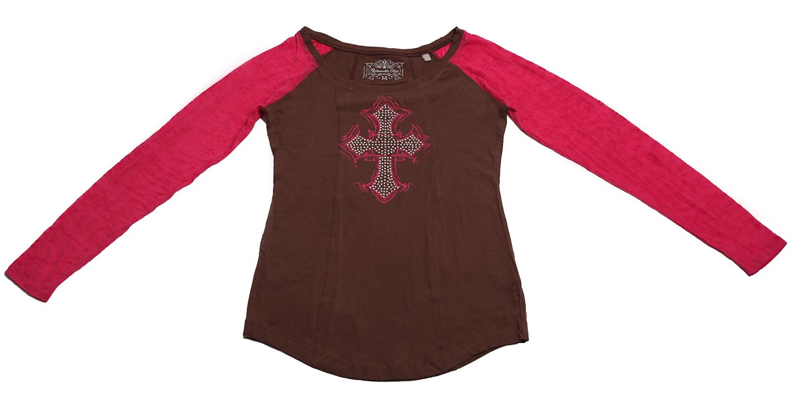 Модная кофточка Panhandle Slim в красно-коричневых цветах