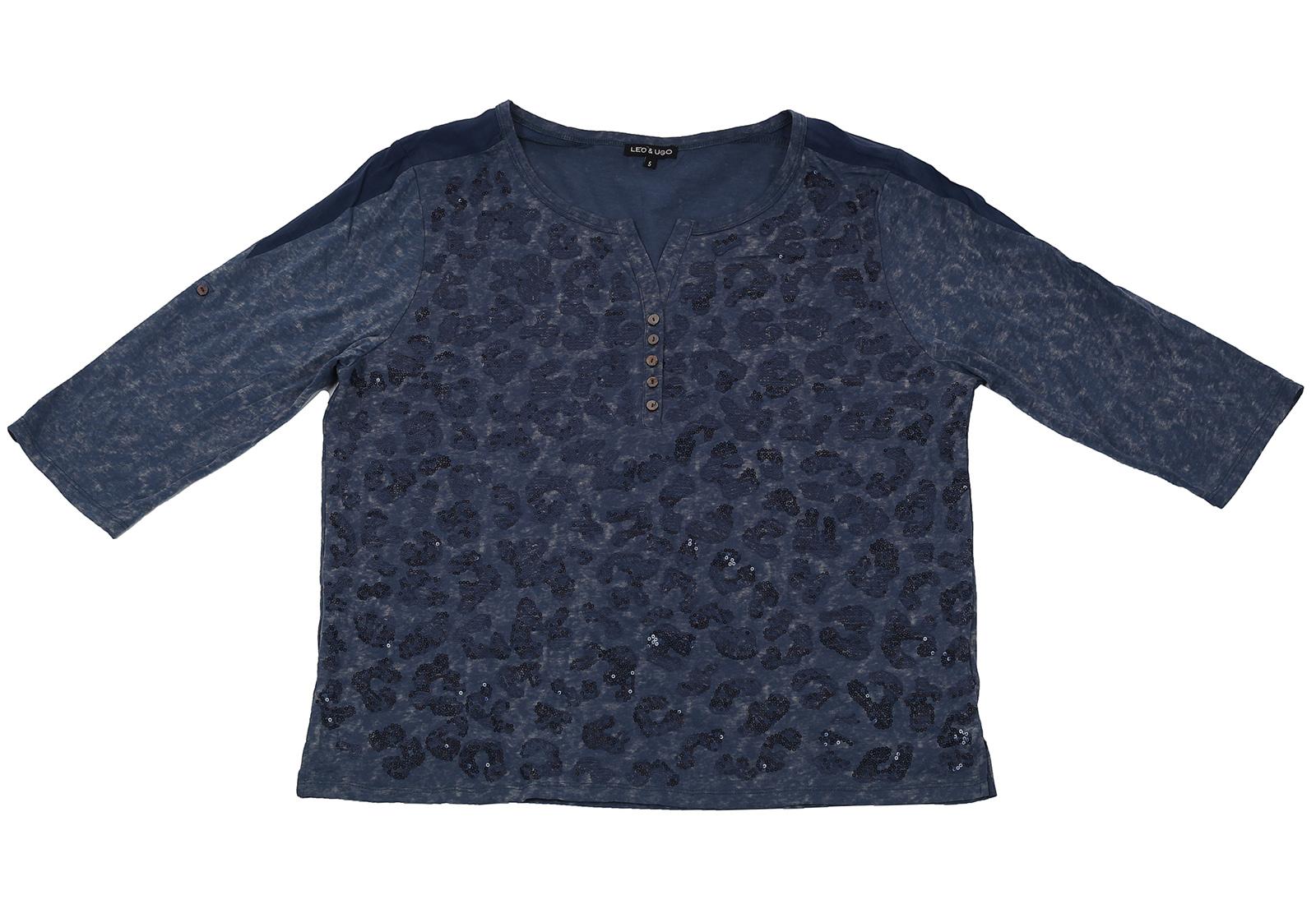 Модная кофточка с пайетками от Leo&Ugo. Французский бренд по доступной цене