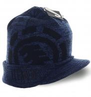 Модная меланжевая шапка Element практичный вариант для мужчин