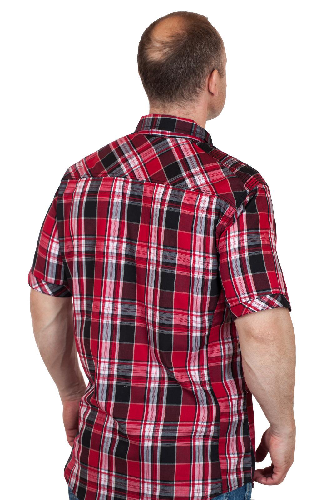 Модная мужская рубашка Machine - вид сзади
