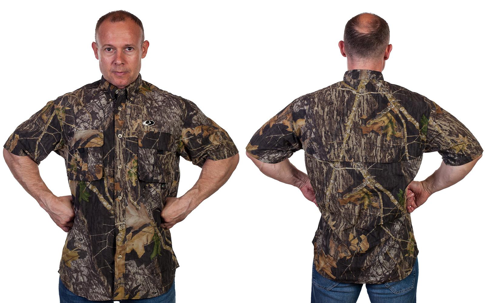 Модная мужская рубашка с коротким рукавом от Mossy Oak (США)
