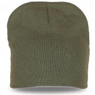 Модная шапка цвета хаки на каждый день