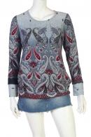 Модная туника с оригинальным принтом от бренда Young Threads