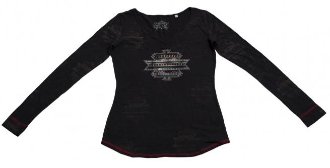 Модная удобная кофточка приталенной модели с орнаментом Panhandle Slim первоклассного качества
