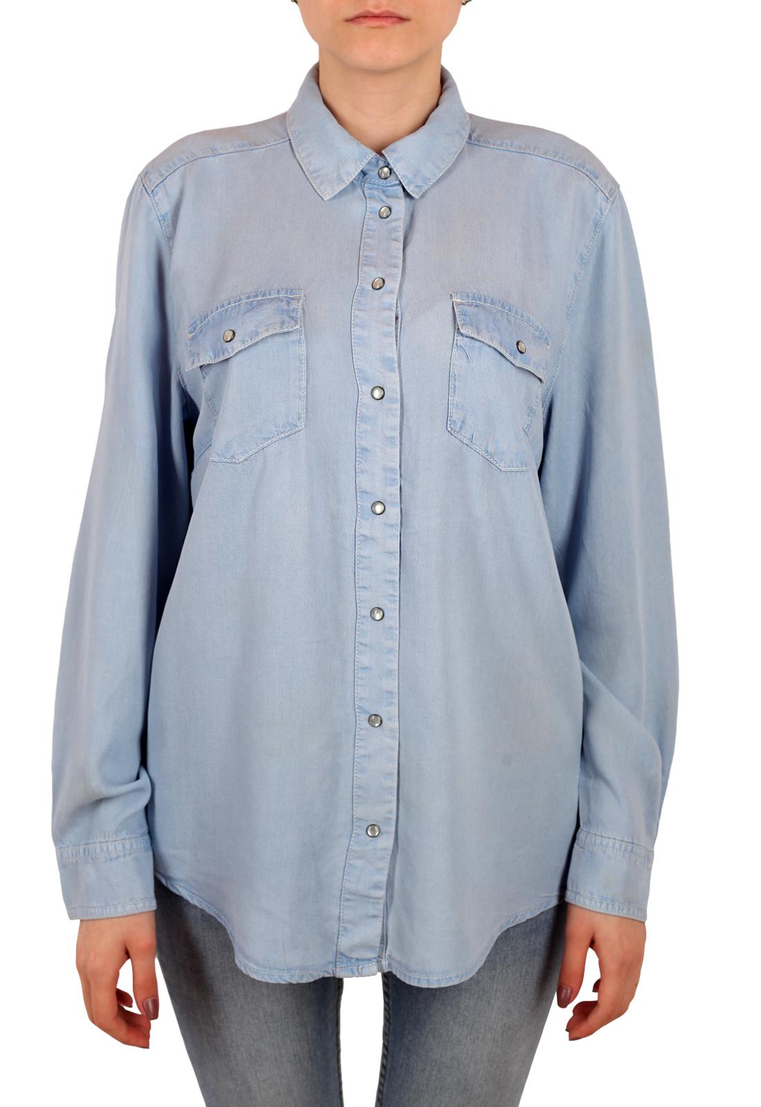 Недорогая уединенная рубашка Sheego Denim для женщин
