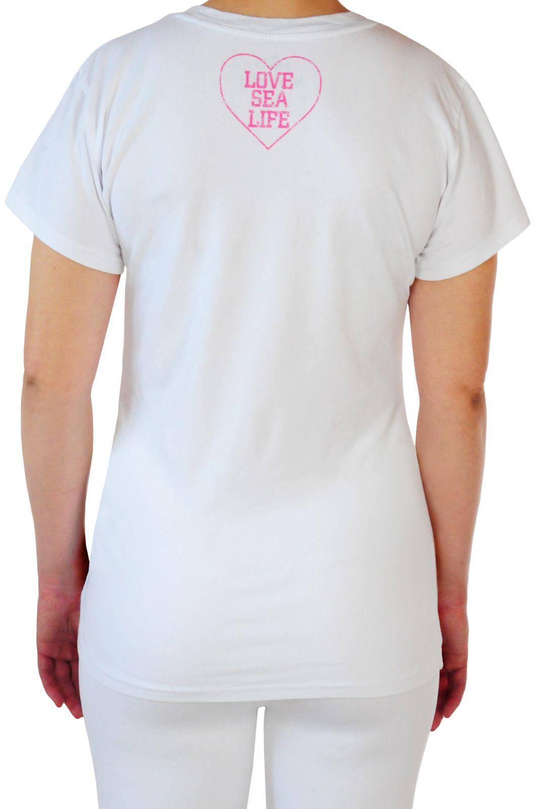 Модная женская футболка от Sea World® (США) - вид сзади