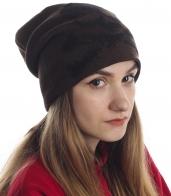 Модная женская шапка с оригинальным черепом