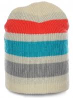 Модная женская шапка в яркую полоску. Теплая и комфортная, незаменима в холодное время года