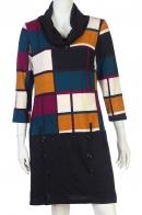 Купить модное платье с геометрическим принтом от Smart Concept по выгодной цене
