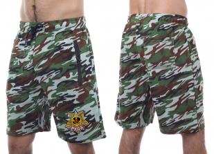 Модные камуфлированные шорты с нашивкой РХБЗ - купить в подарок