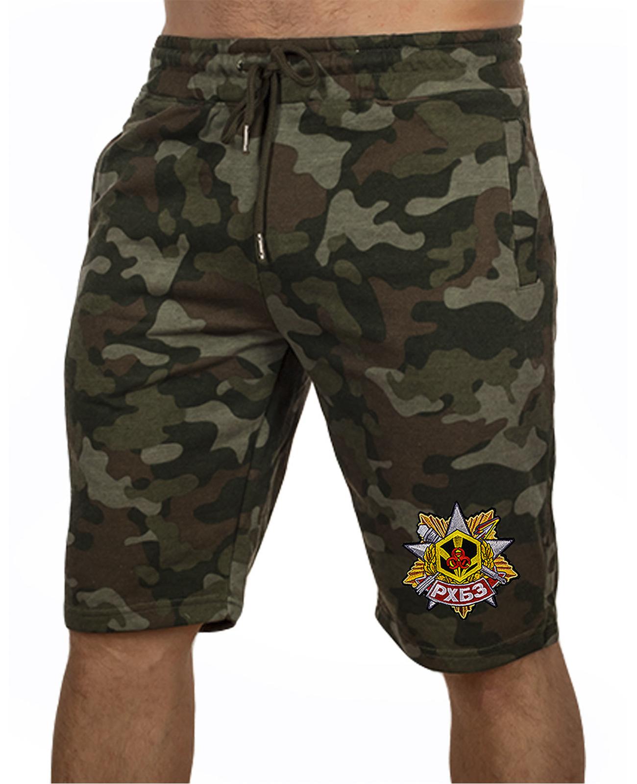 Купить модные камуфляжные шорты с нашивкой РХБЗ с доставкой онлайн