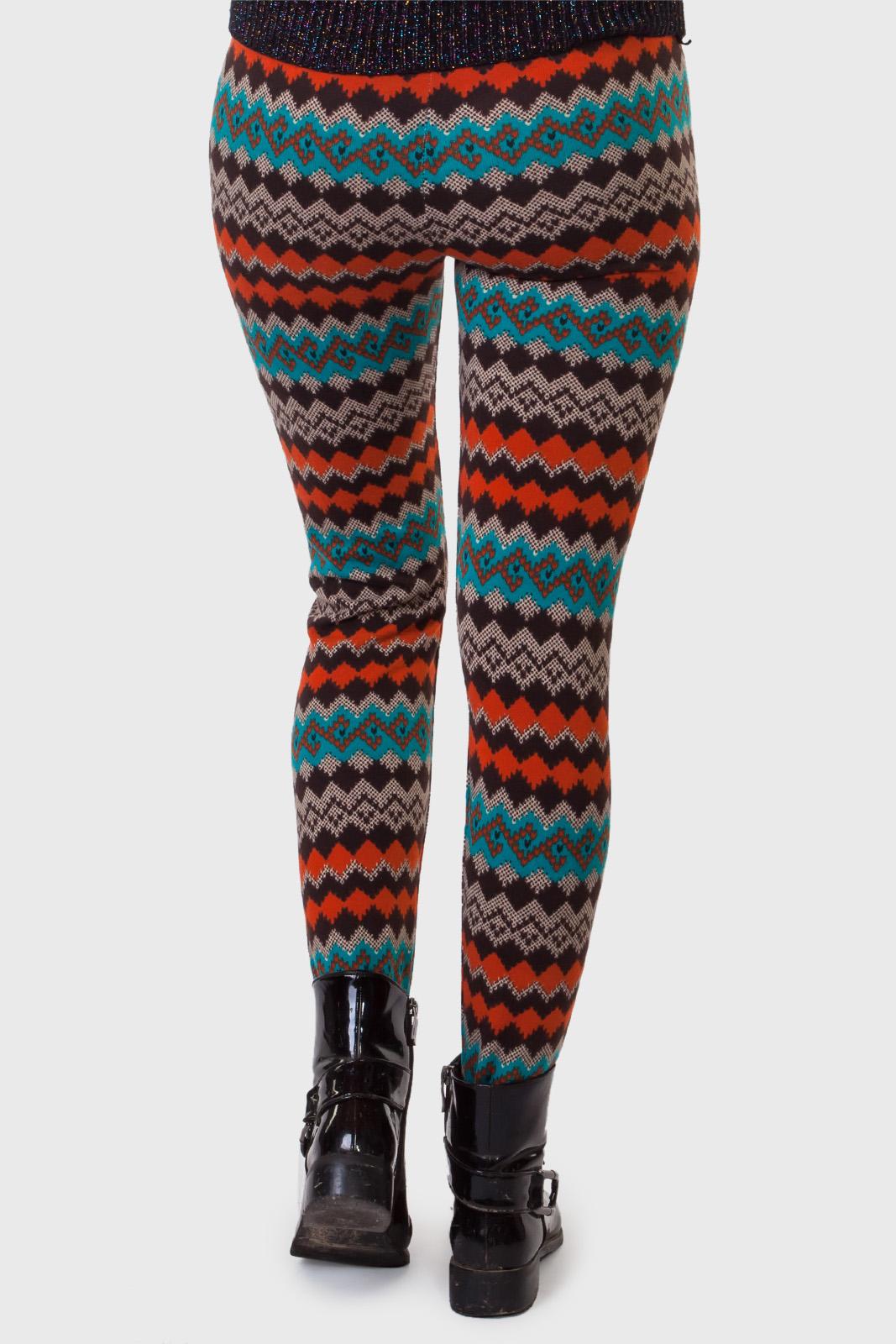 Модные женские леггинсы LOBO с геометрическим принтом.