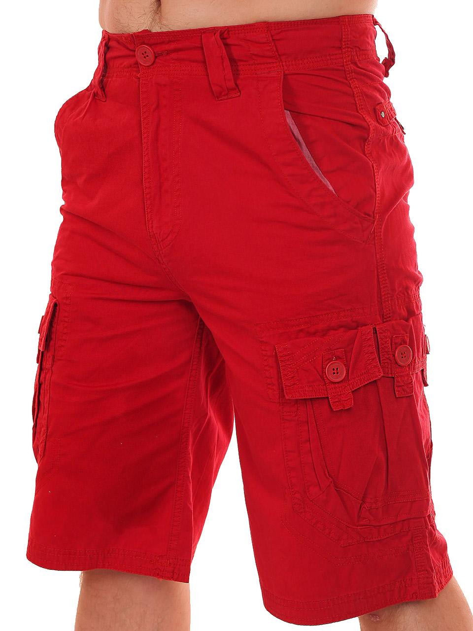 Модные мужские шорты красного цвета от бренда Refuel