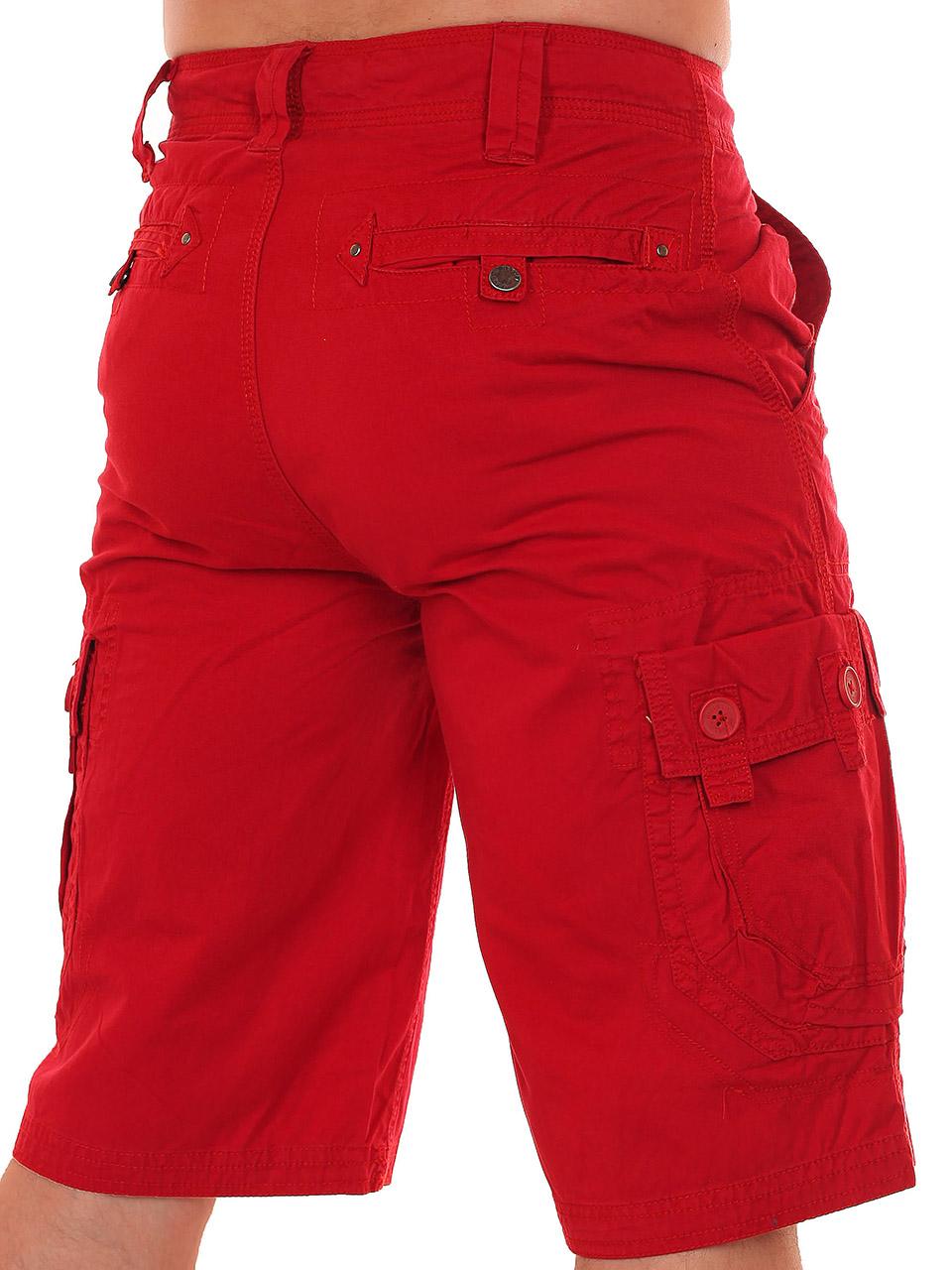 Модные мужские шорты красного цвета по лучшей цене